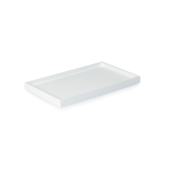 Low Tray Rectangular Medium white