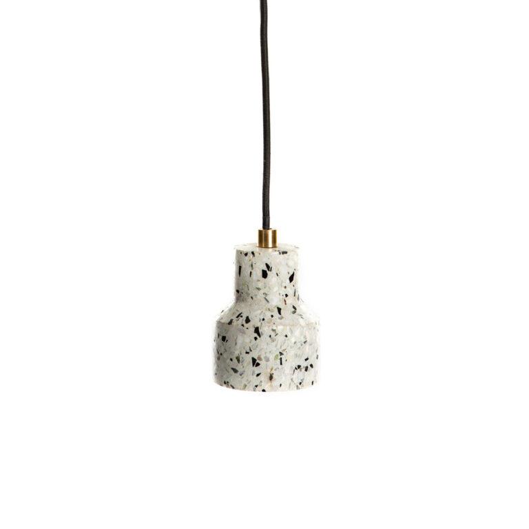 white Terrazzo Lamp Simple