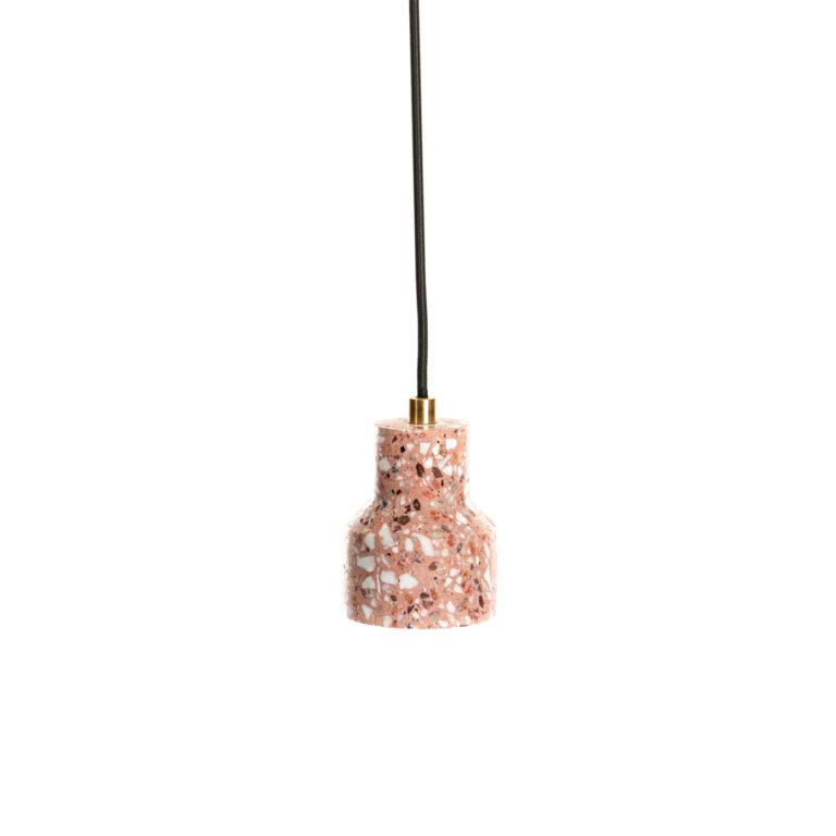 red Terrazzo Lamp Simple