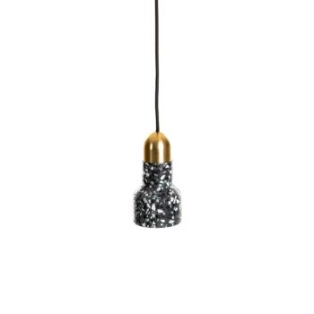 black Terrazzo Lamp Luxe
