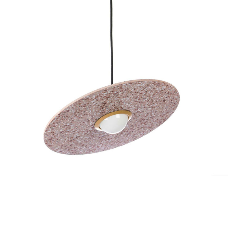 Terrazzo Planet red lamp