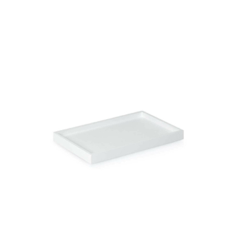 Low Tray Rectangular Small white