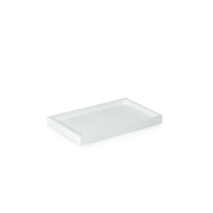 Low Tray Rectangular Small white