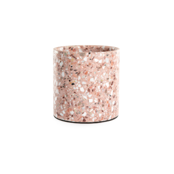 Terrazzo pot medium red