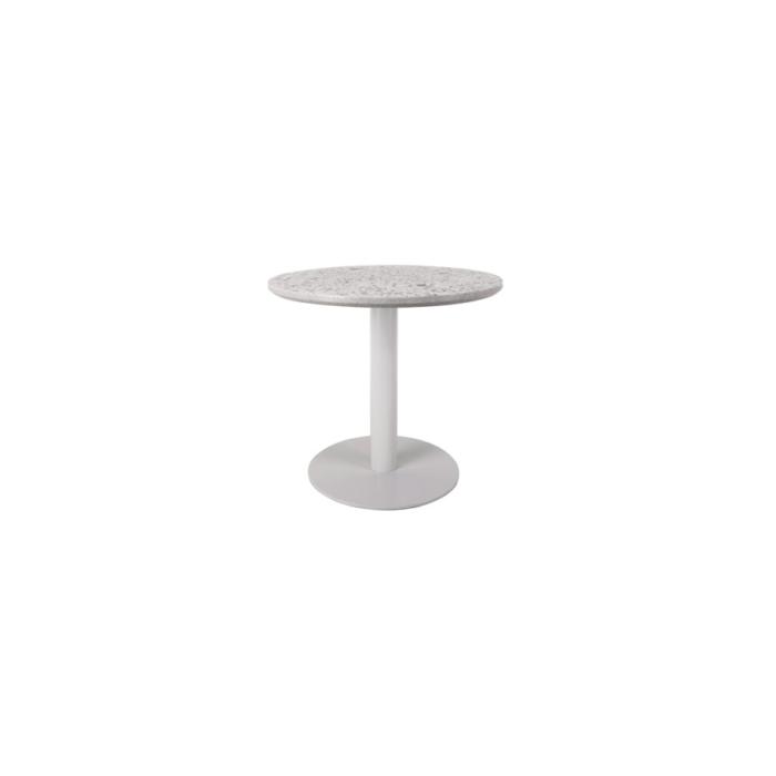 Terrazzo Table Round low white