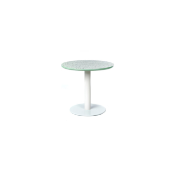 Terrazzo Table Round low mint