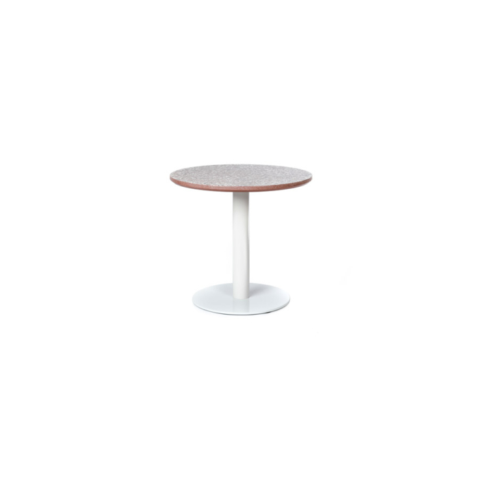 Terrazzo Table Round low red