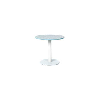 Terrazzo Table Round low blue
