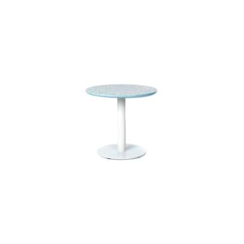 Terrazzo Table Round low blue