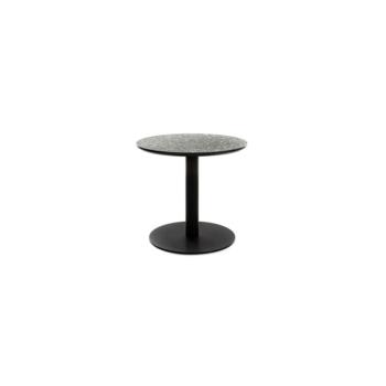 Terrazzo Table Round low black