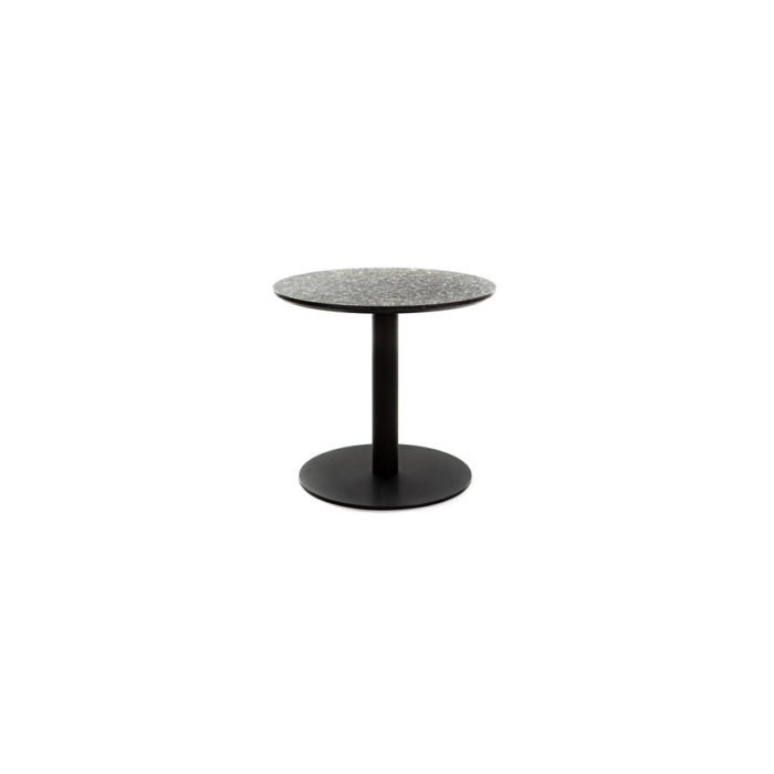 Terrazzo Table Round low black