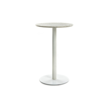 Terrazzo Table Round medium white
