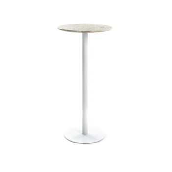 Terrazzo Table Round high white