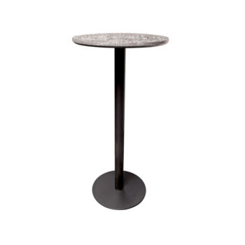 Terrazzo Table Round high black