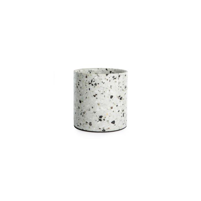 Terrazzo pot small white