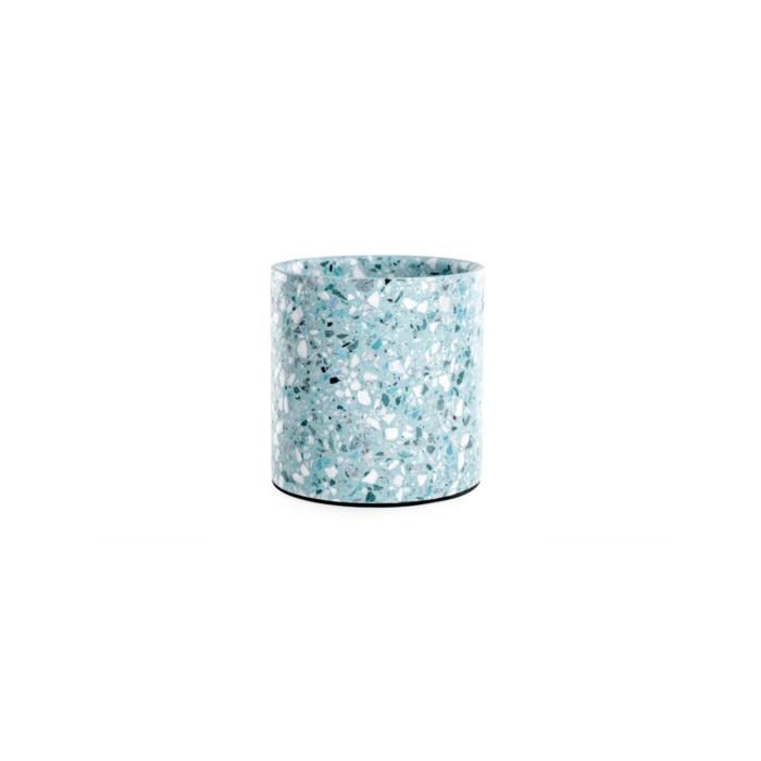 Terrazzo pot small blue