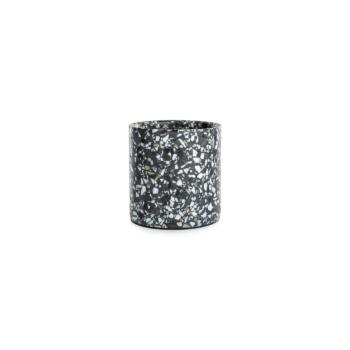 Terrazzo pot small black