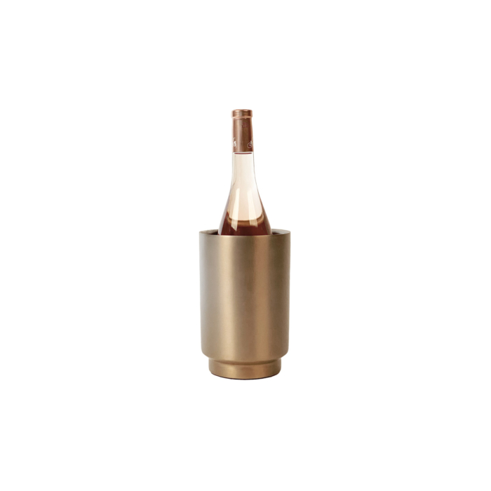 Rondo wine cooler soft copper/stainless steel