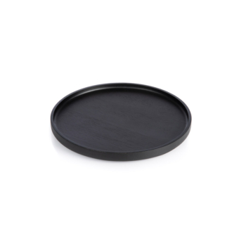 The round, medium Nero Tray