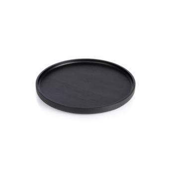 The round, medium Nero Tray