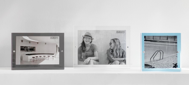 Acrylic Magnetic Frame Sky Blue, Dark Grey