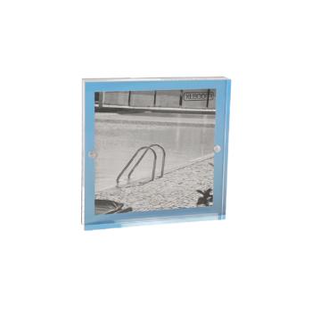 Acrylic Magnetic Frame 13x13 Sky Blue