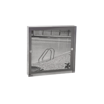 Acrylic Magnetic Frame 13x13 Dark Grey